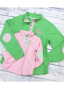 Youth Miller Pullover Pink/Green