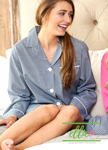 Gingham Night Shirt - Navy (ALL SIZES SOLD OUT)
