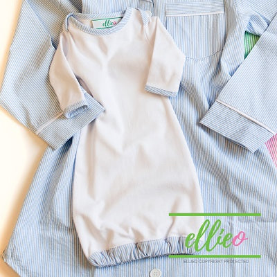 Seersucker Infant Gown-Blue (SOLD OUT)