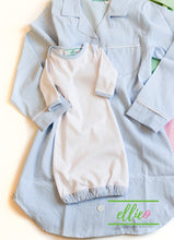 Load image into Gallery viewer, Seersucker Infant Gown-Blue (SOLD OUT)