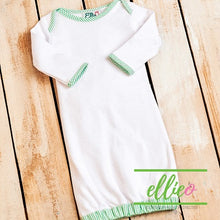 Load image into Gallery viewer, Seersucker Infant Gown-Green