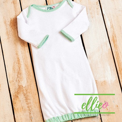 Seersucker Infant Gown-Green