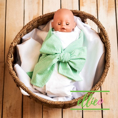 Seersucker Swaddle Wrap - Green