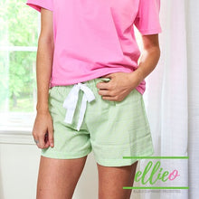 Load image into Gallery viewer, Seersucker green shorts
