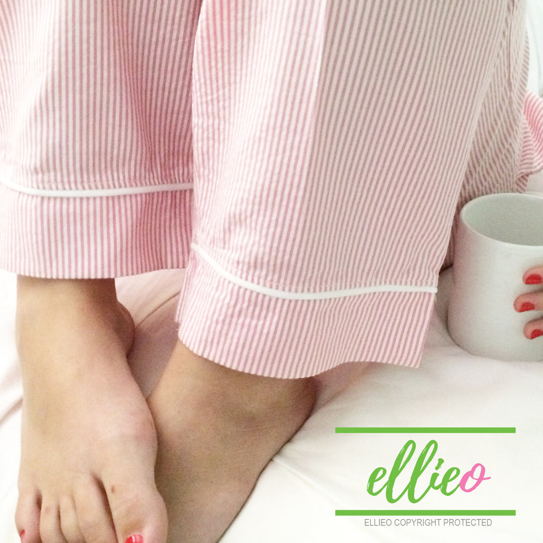 Womens Pink Seersucker Pajama Pants (ALL SIZES SOLD OUT)