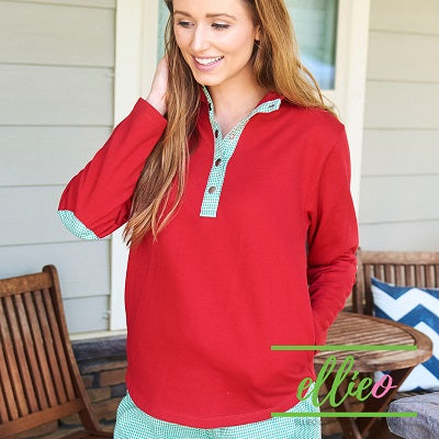 Miller Pullover Red/Green Gingham