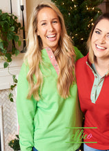 Load image into Gallery viewer, Miller Pullover Green/Red Gingham