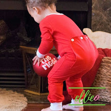 Load image into Gallery viewer, Holly Jolly One-Piece Jammies - Solid Red (6M AND 18M ONLY)