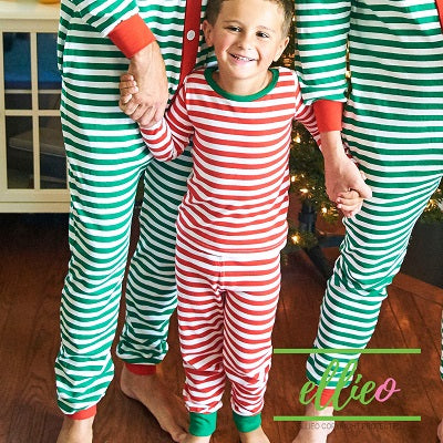 Holly Jolly Two-Piece Jammies (SIZES 2/ 3/ 4/ 5/ AND 6 ONLY) - Red Stripe