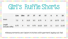 Load image into Gallery viewer, Girls Knit Ruffled Shorties