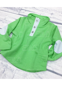 Youth Miller Pullover Green/Blue