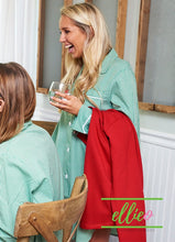 Load image into Gallery viewer, Green Gingham Night Shirt