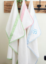 Load image into Gallery viewer, Seersucker Hooded Towel - Pink (SOLD OUT)
