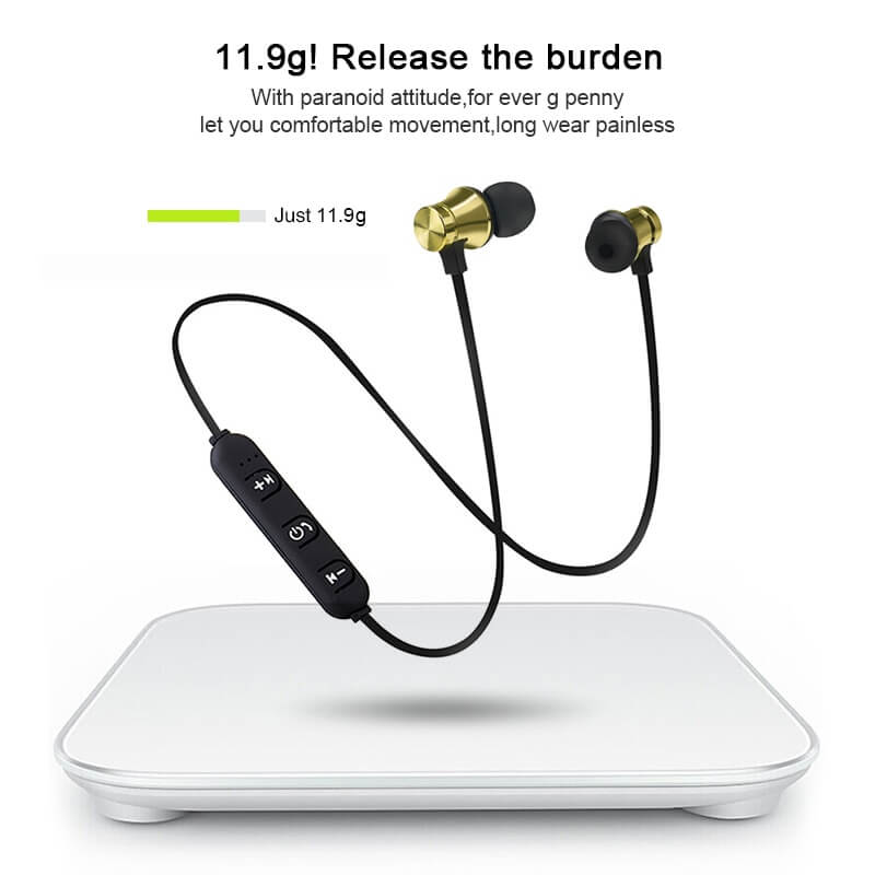 19 HTB1A NRaI vK1RkSmRyq6xwupXaj - NEW! Magnetic Wireless Bluetooth Hands Free Headset
