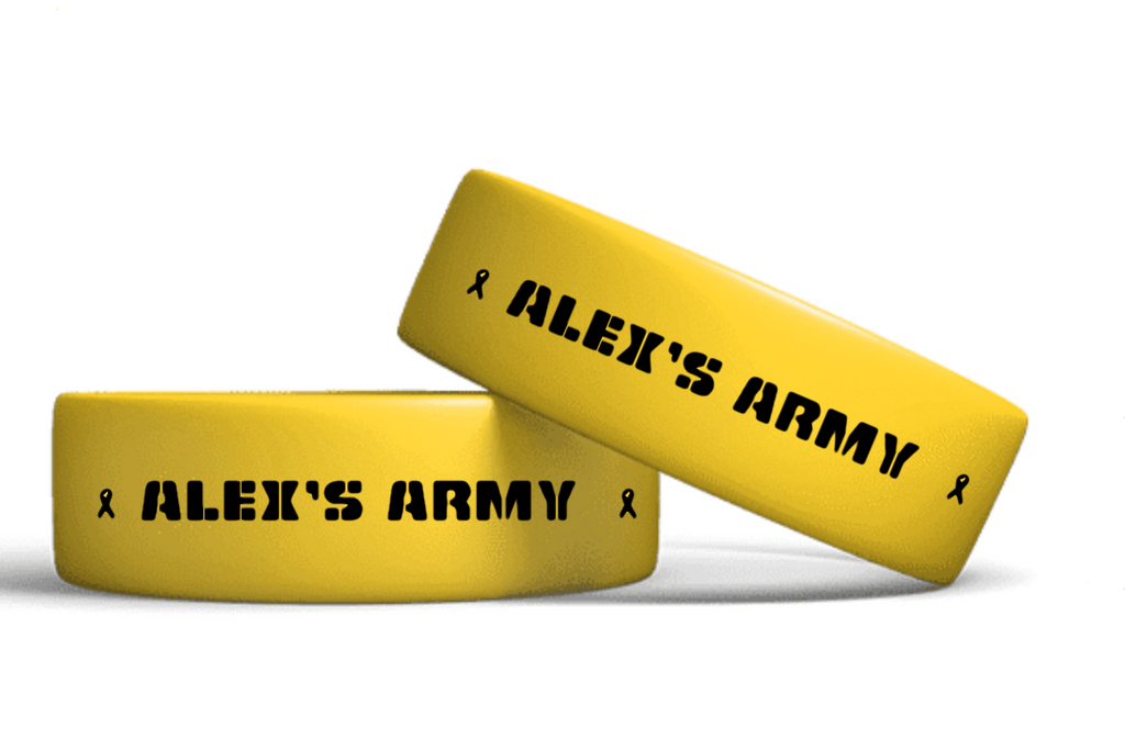 604-Gold Out Alex's Army Support Braclet