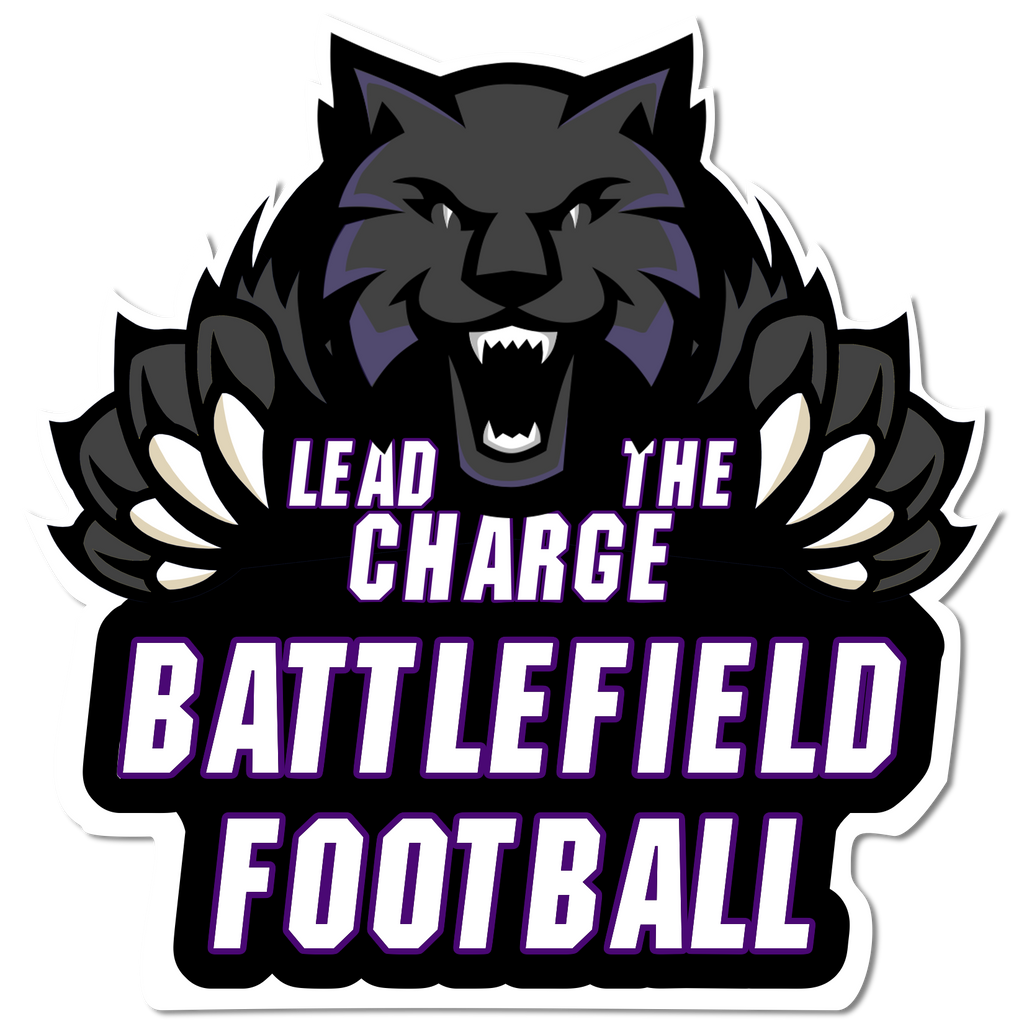 "503-Lead The Charge ""LTC"" Football Sticker"