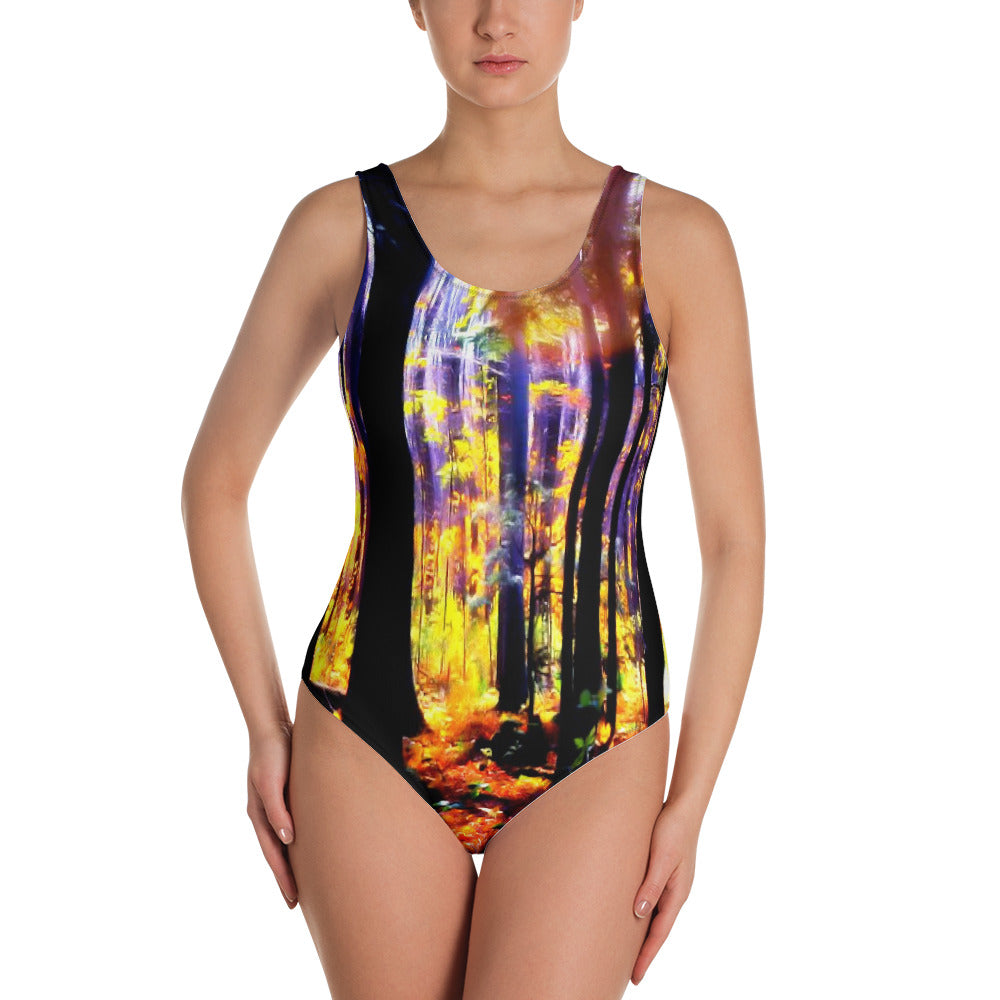 """One-Piece Swimsuit -""""Autumn Leaves"""""""