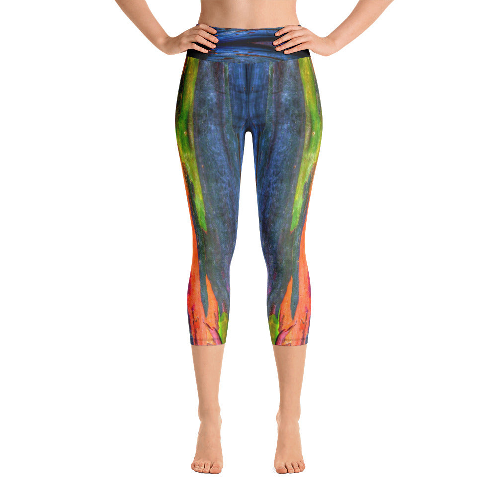 "Yoga Capri Leggings - ""Tree Bark"""