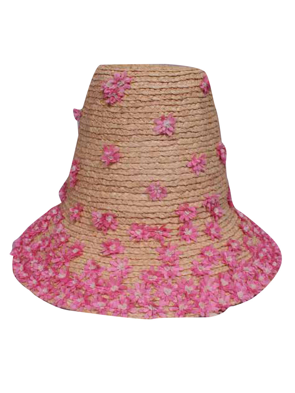 Flower Embelished Hat