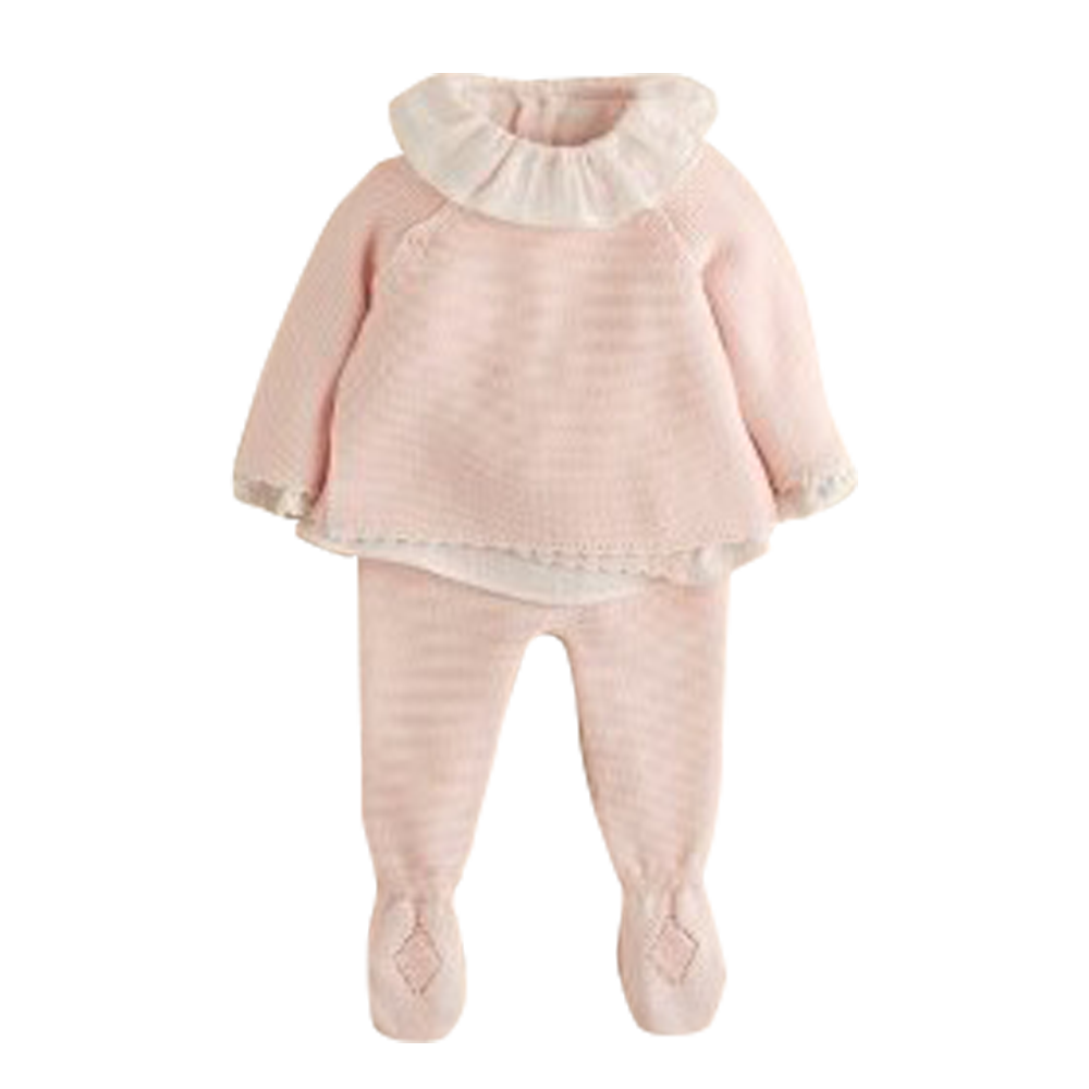 PREORDER: Scalloped Edge Pink Baby Cardigan