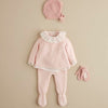 Scalloped Edge Pink Baby Cardigan
