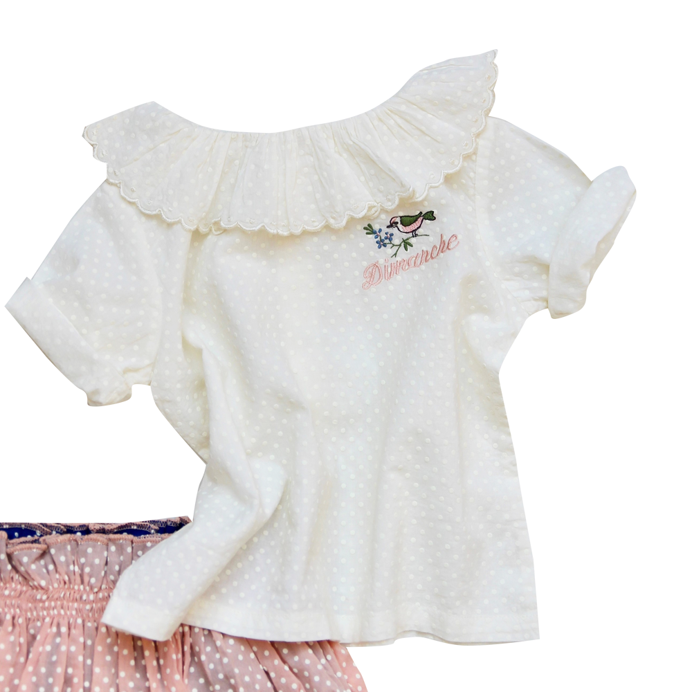 Baby Embroidered Flounce Blouse