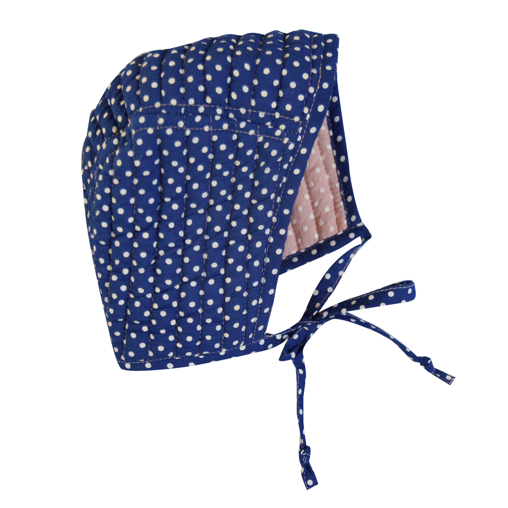 Blue and Pink Reversible Bonnet