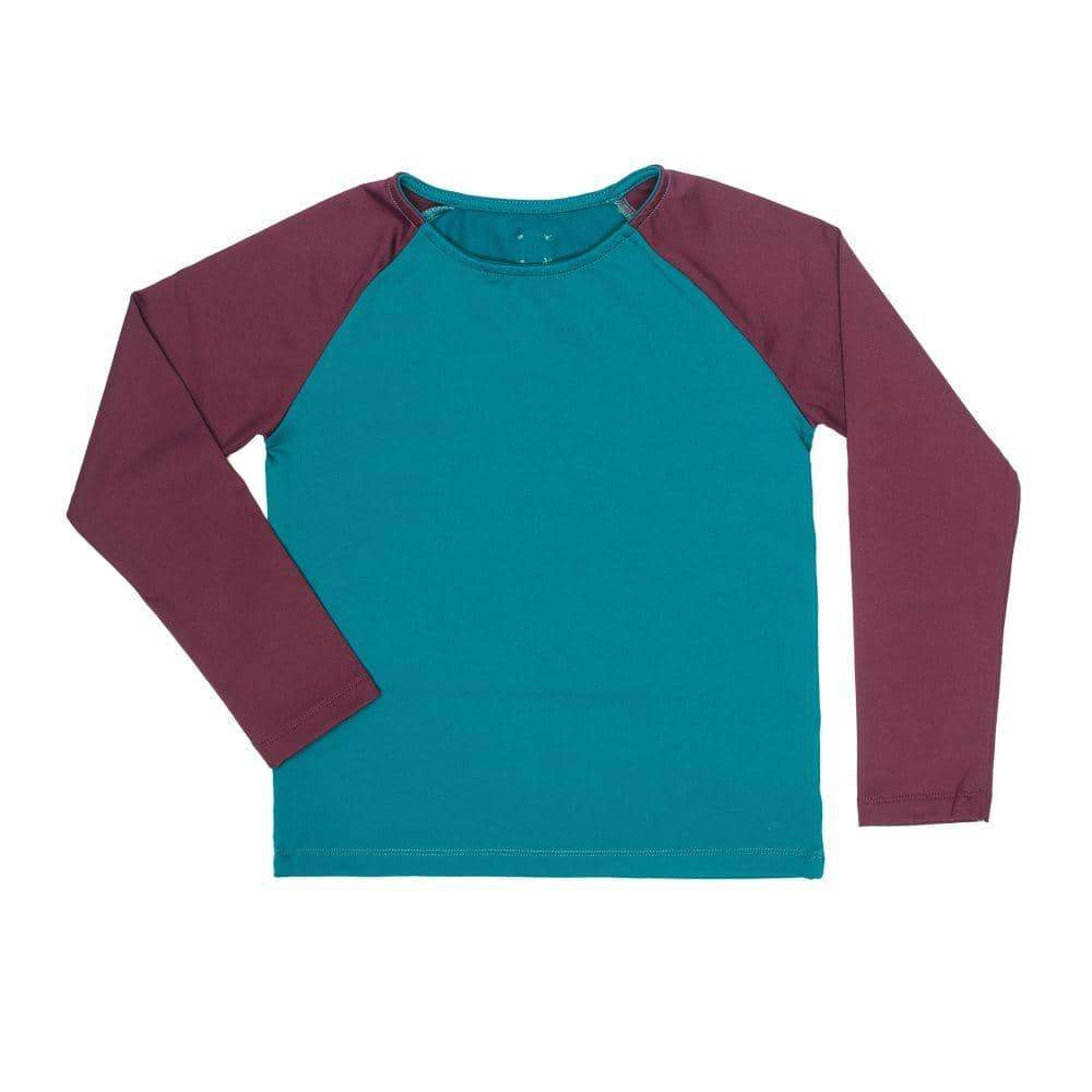 Green and Burgundy Rashguard