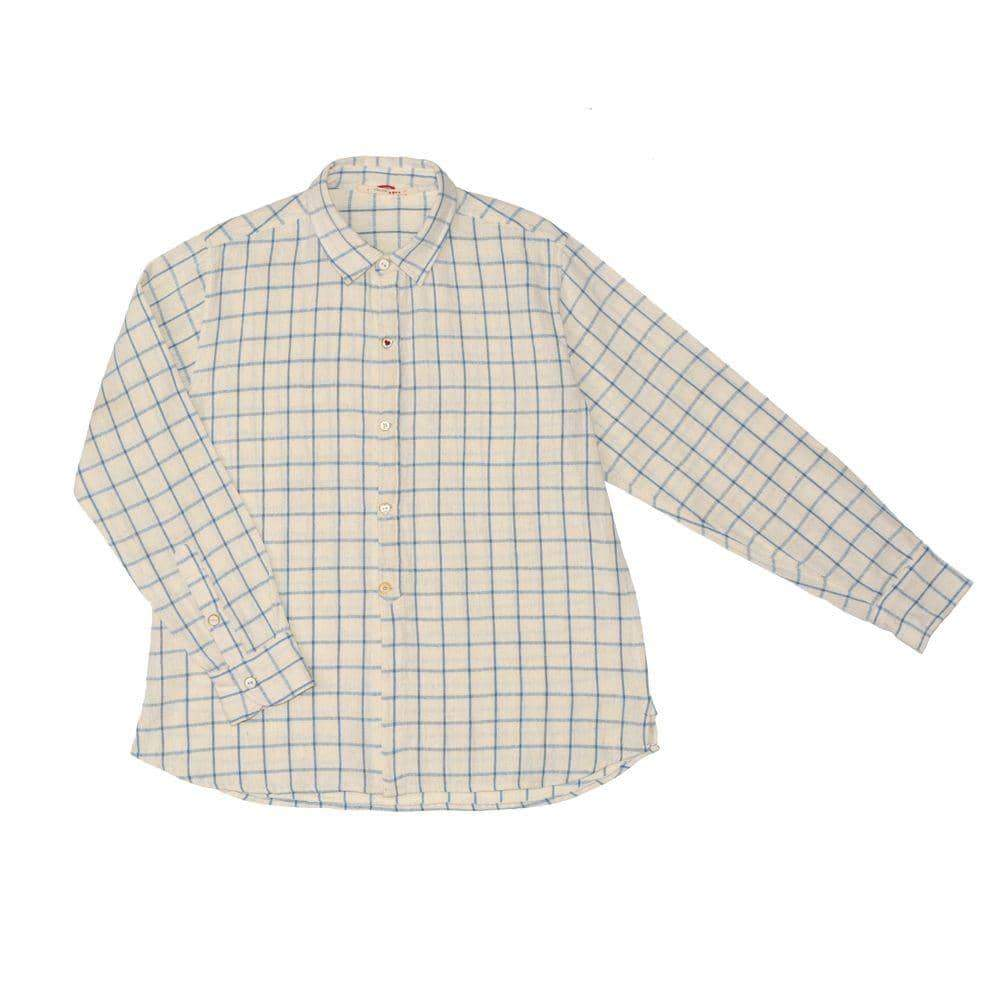 Checked Heart Button Shirt