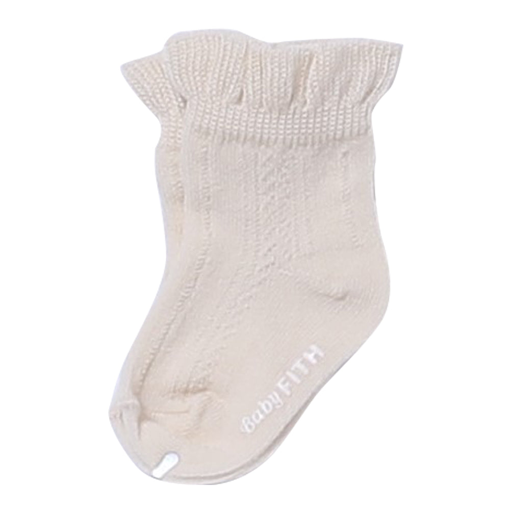 Off White Baby Lace Socks