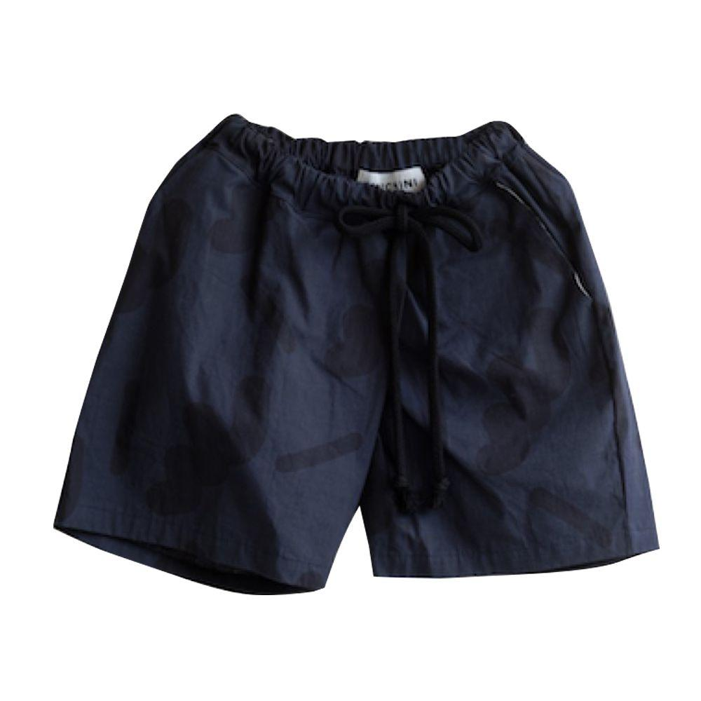 Navy Mix Camo Short Pants