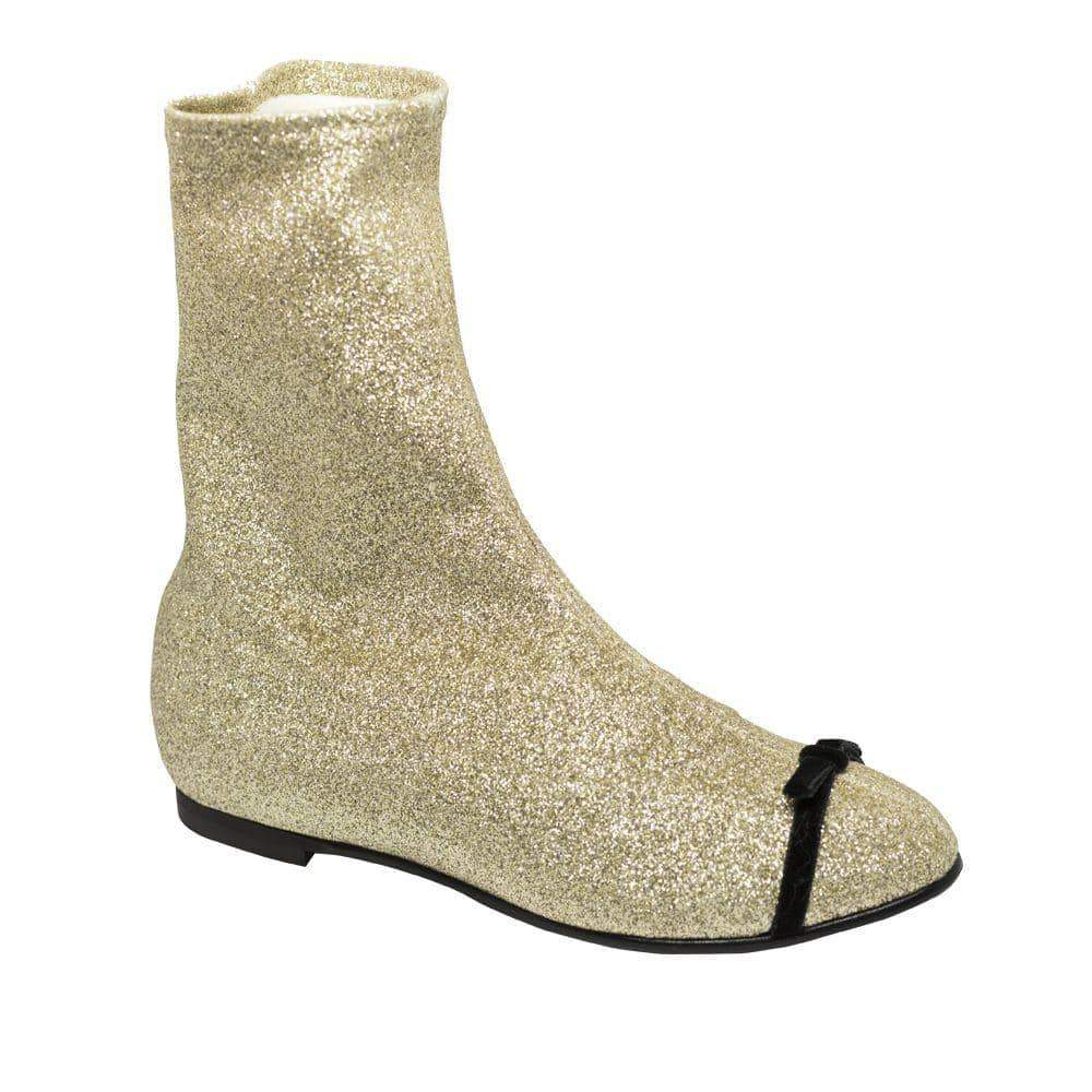 Gold Glittered Boots