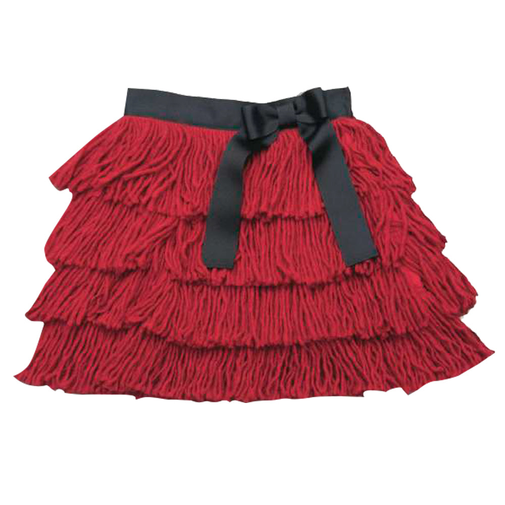 Red Fringed Skirt