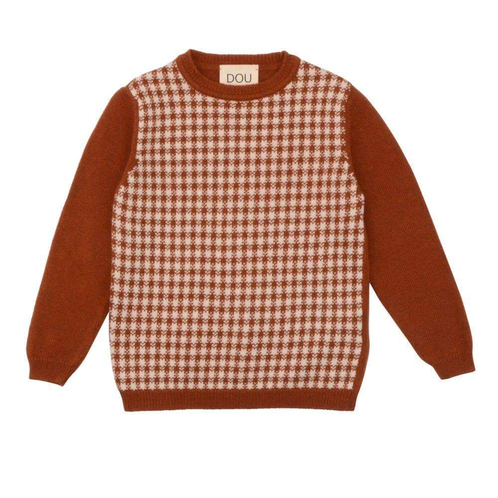 Checked Panel Pullover