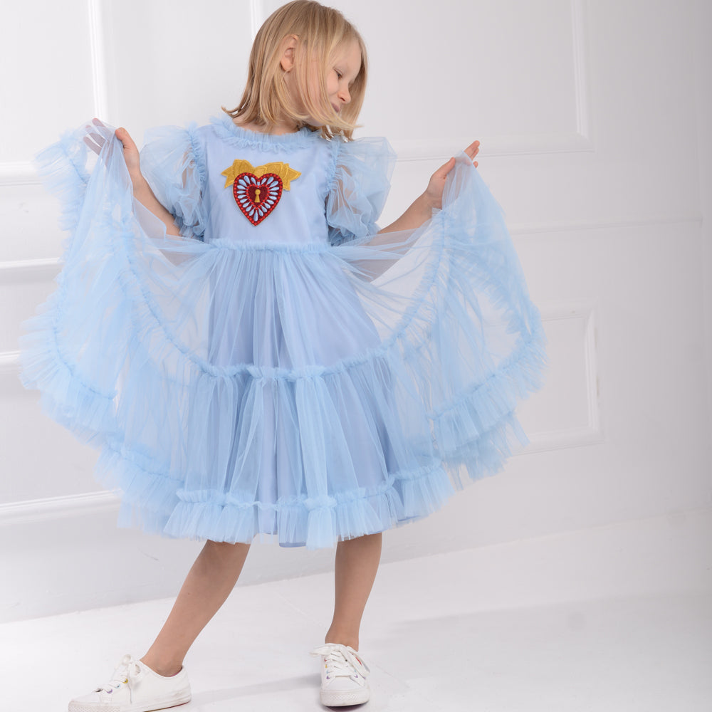 Blue You are My Heart and Soul Dress