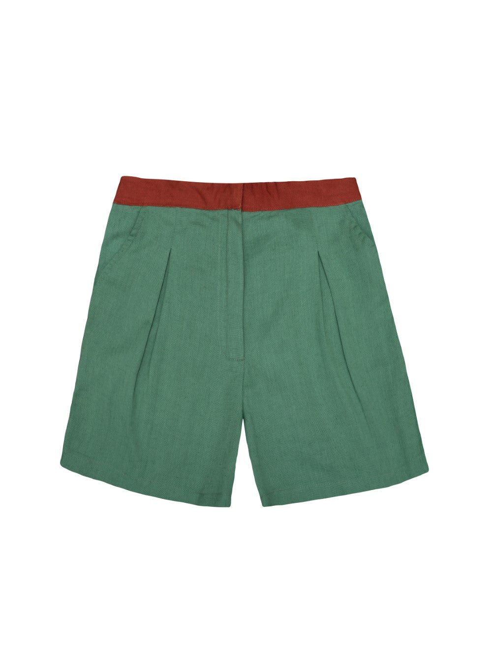 Green and Rust Shorts