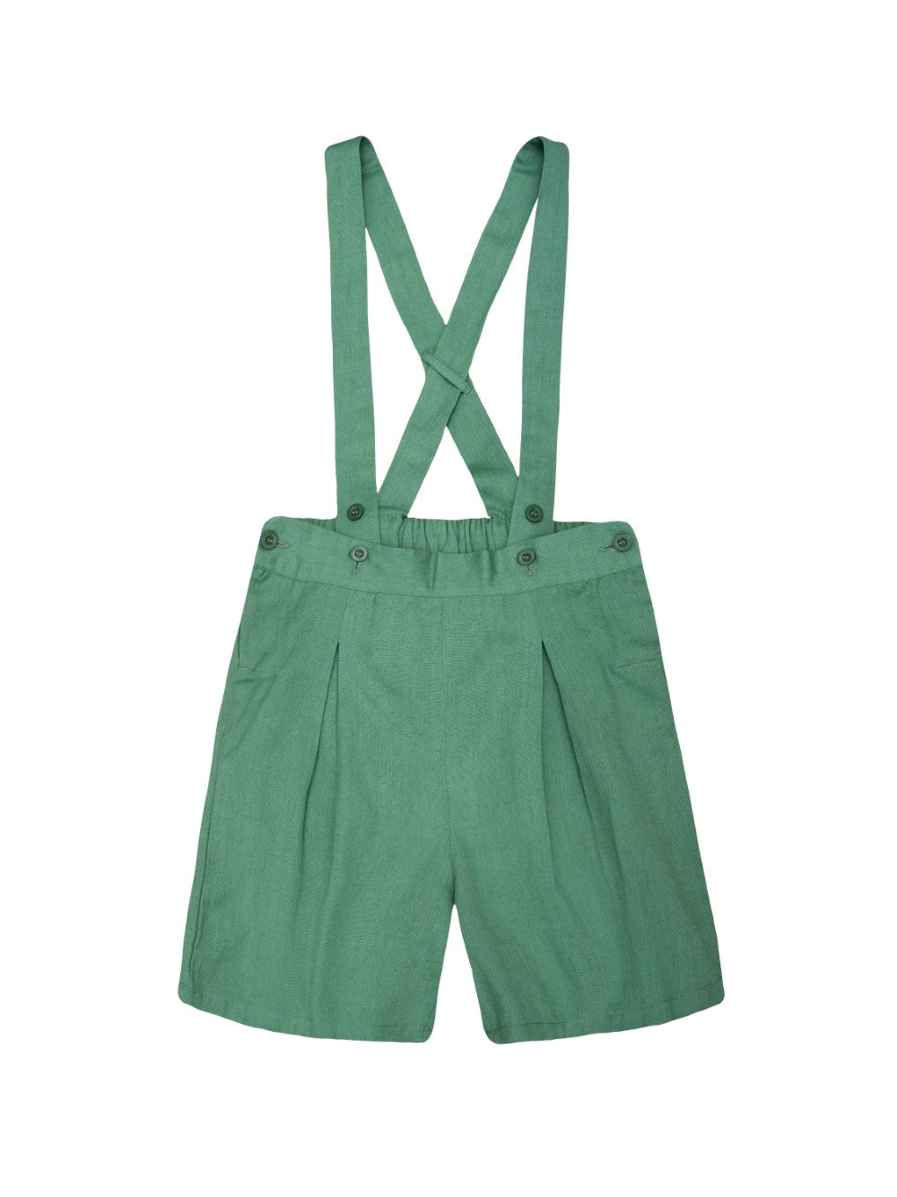 Green Suspender Shorts