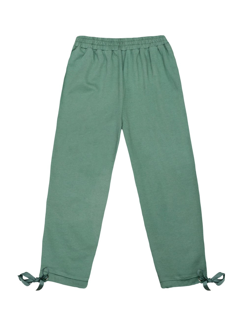 Green French Terry Trousers