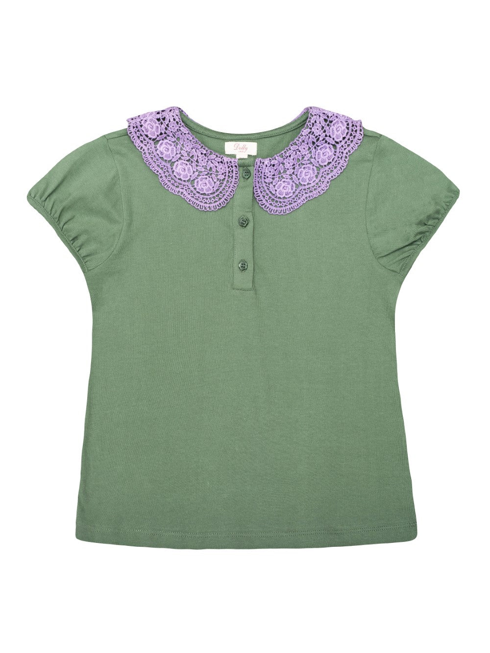 Green Lace Collar Tee