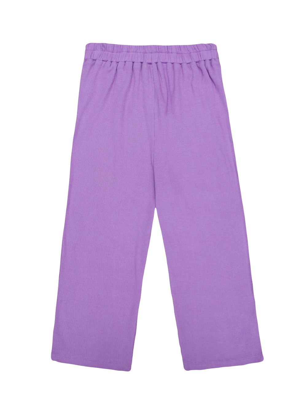 Purple Ribbed Jersey Trousers