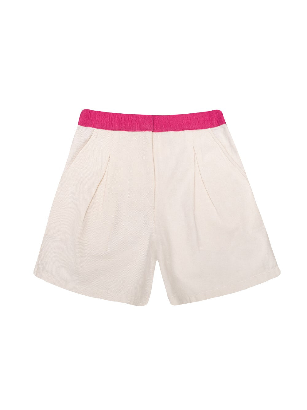 Ecru and Pink Shorts