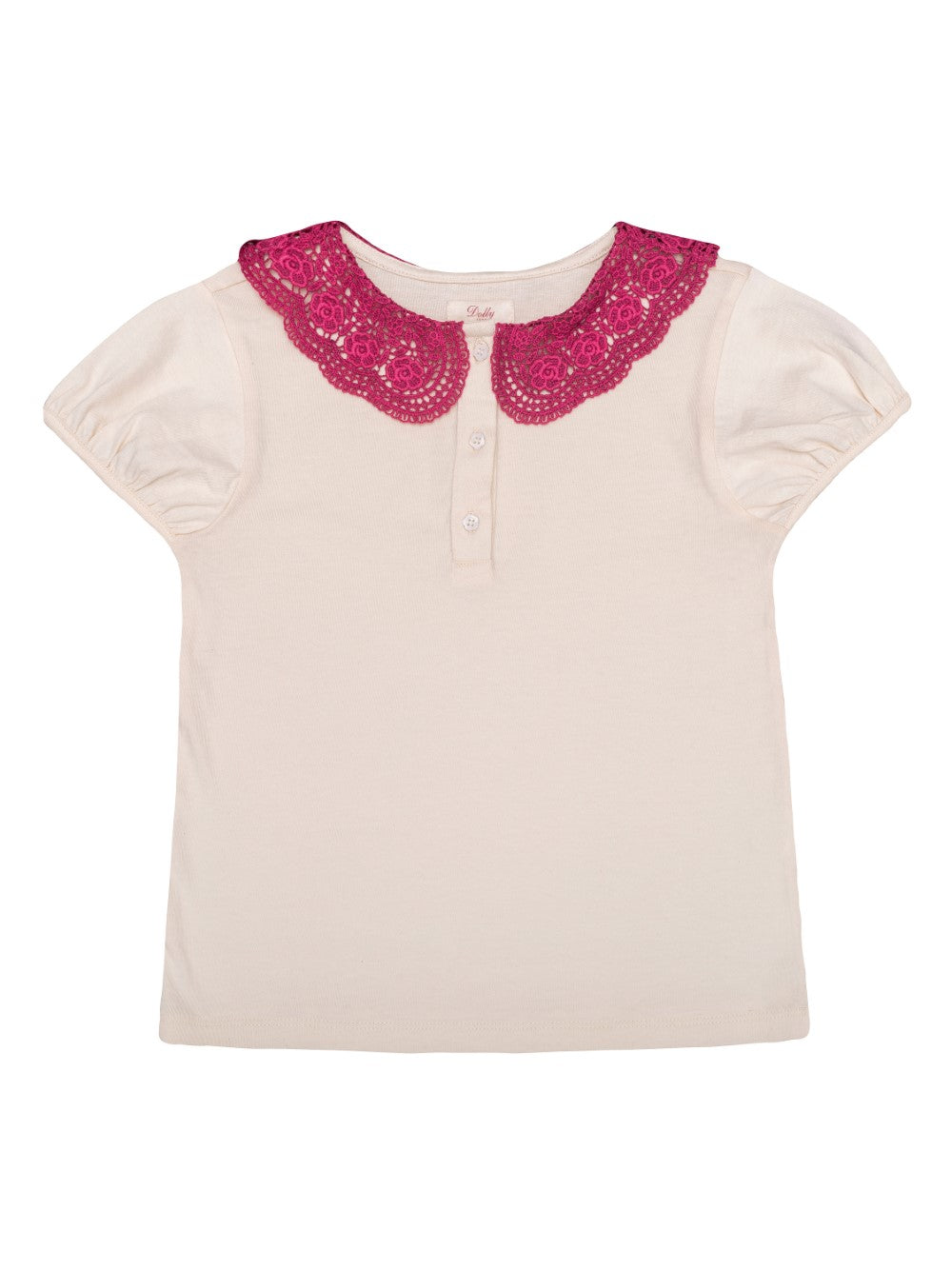 Ecru Lace Collar Tee