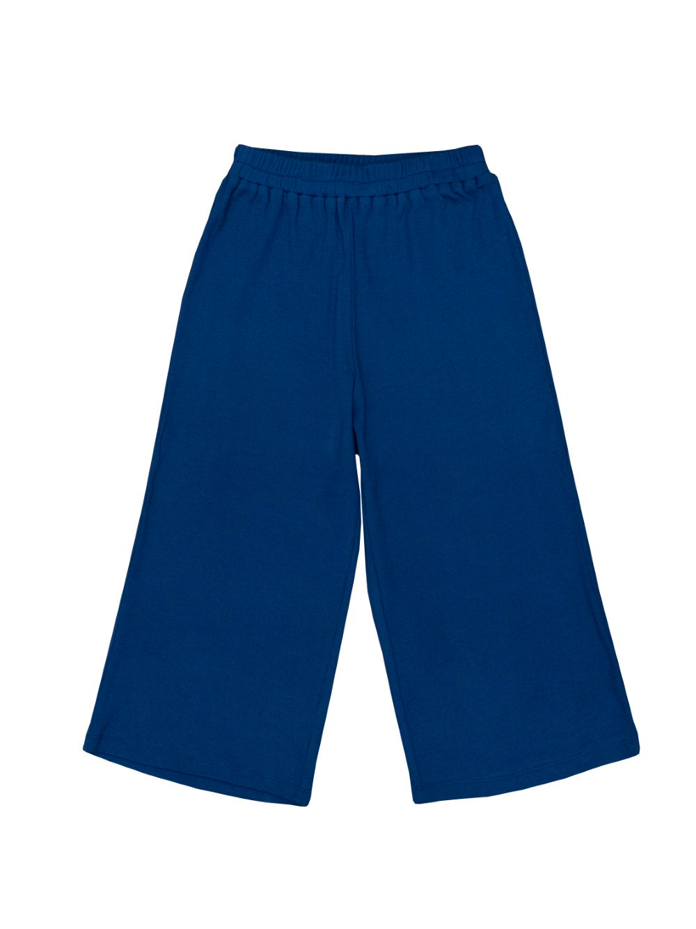 Ribbed Blue Jersey Trousers