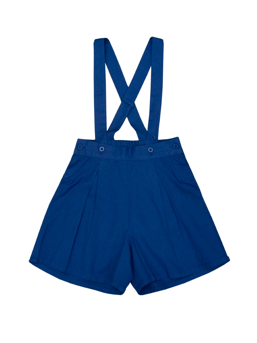 Blue Suspender Shorts