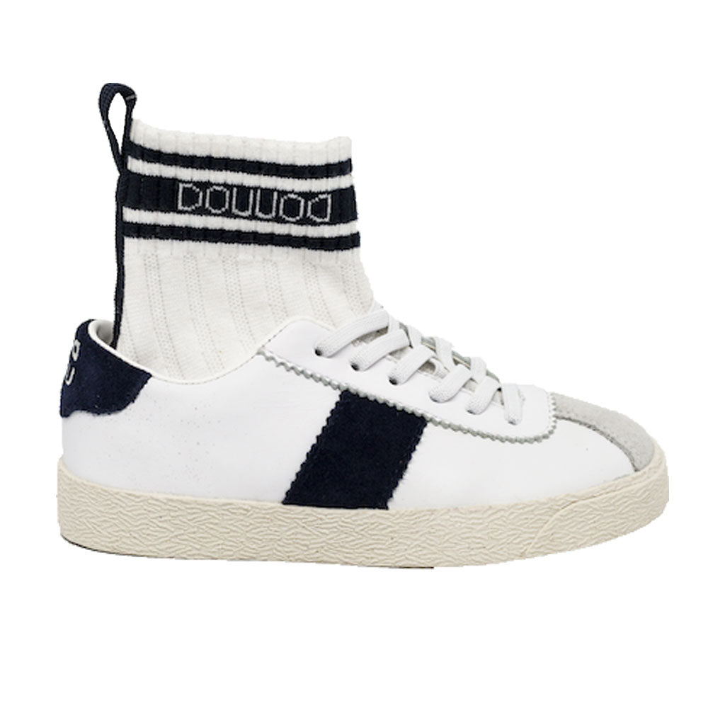 Ginnia White and Navy Sneakers