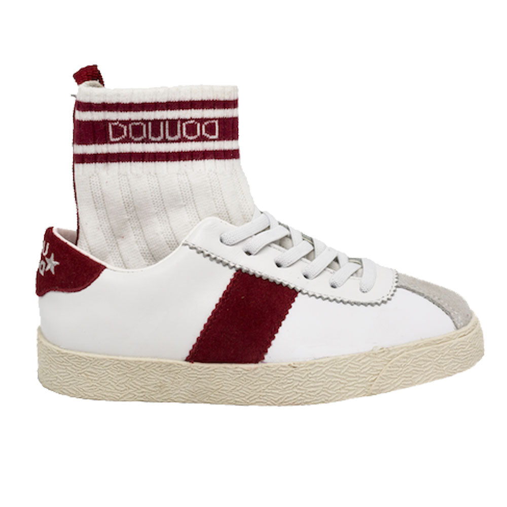 Ginnica White and Red Sneakers
