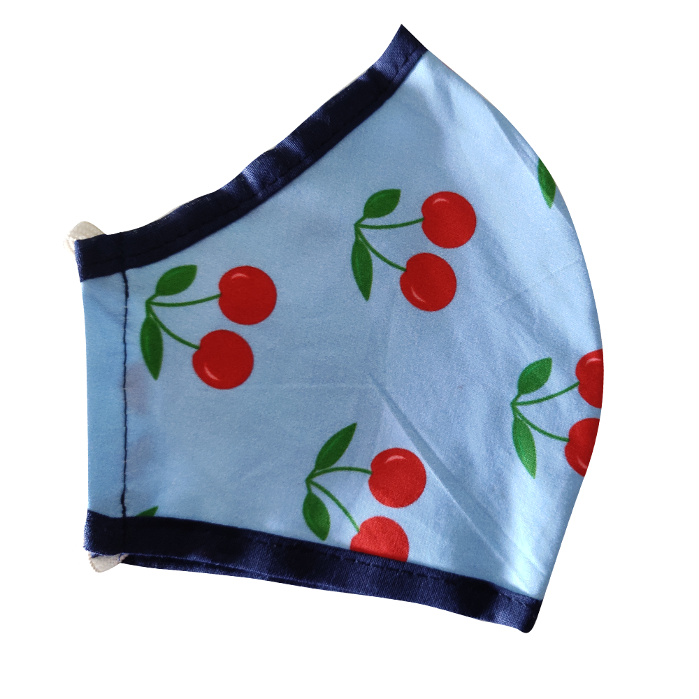 Cotton Blue Cherry Mask