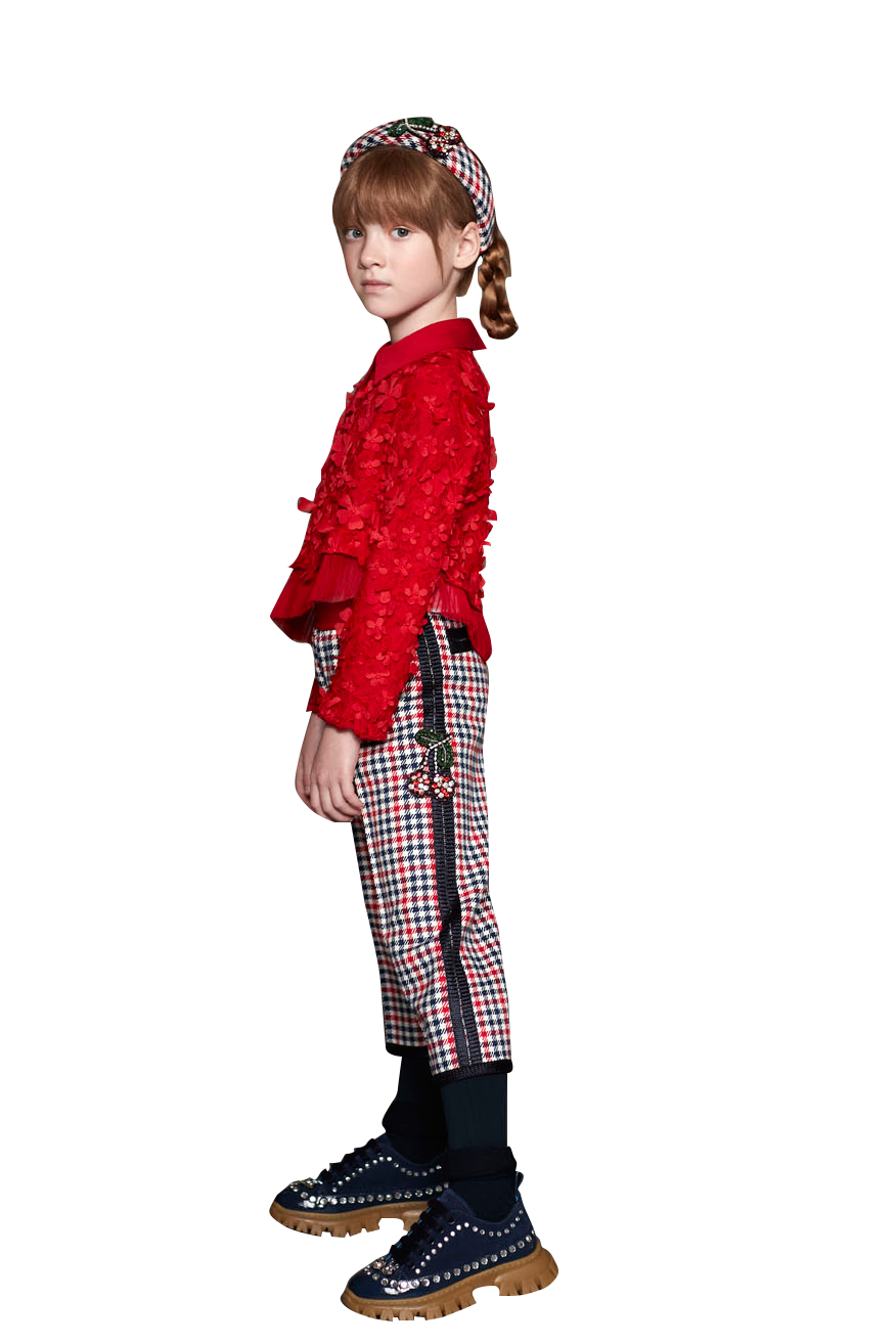 Mimisol Cherry Checked Trousers