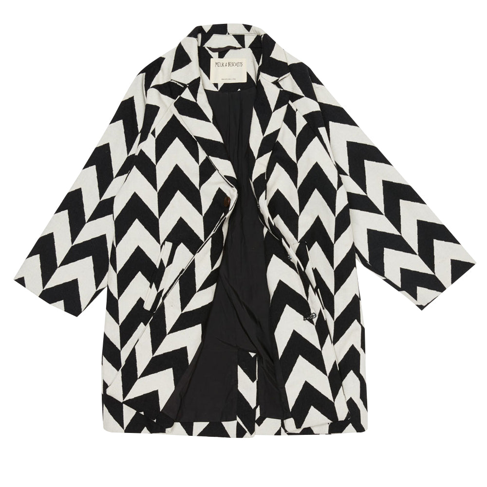 Chevron Lined Coat