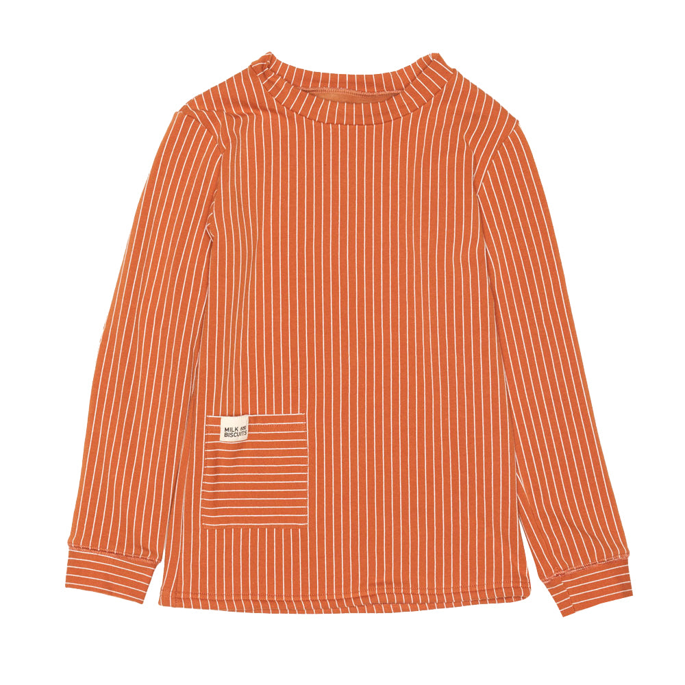 Rust Fleece Lining Top